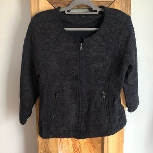 Ann Taylor Navy Blue Modern Tweed Jacket XL